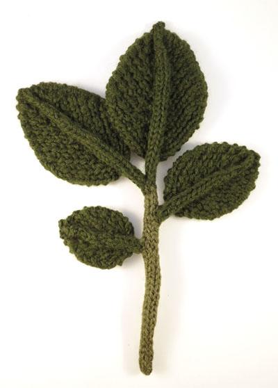 Elm Leaf Knitting Pattern : ODDknit - Gallery - Forest - 0003